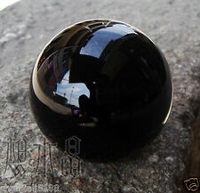 AA HOT SELL NATURAL OBSIDIAN POLISHED BLACK CRYSTAL SPHERE BALL 40MM +STAND Q4