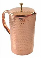 Hand Hammered Pure Copper Jug With Lid For Health Benefits