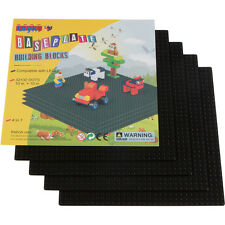 "Black LEGO Compatible Baseplate Large 32x32 10""x10"" 4 Pack by Bryk"