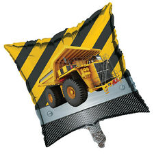 "CONSTRUCTION Zone 18"" BALLOON Dump Truck Birthday Party Supplies Decoration Prop"