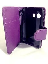 PURPLE WALLET Leather Case Card Slots Phone Cover Samsung Galaxy Young GT-S5360