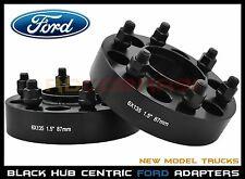 "2 Pc Ford F150 Raptor Expedition 1.5"" Thick Hub Centric Wheel Spacers M14x1.5"