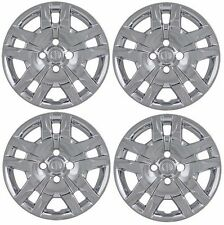 """NEW 16"""" Bolt-On CHROME Hubcaps Wheelcover SET that FIT 2007-2012 NISSAN SENTRA"""