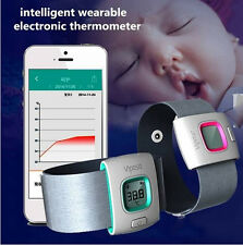 Baby Kids Wearable Digital Thermometer Bluetooth Smart Monitor For Smartphone