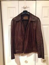Leather Jacket Brown Pepe Jeans