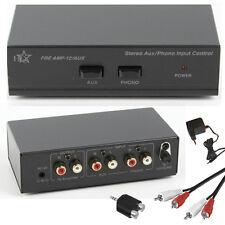 Stereo Phono Preamplificatore preamp con AUX Line in arrivo incl. Cavo e Alimentatore