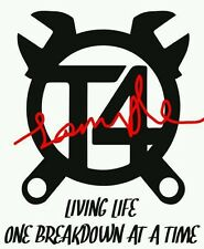 T4 LIVING LIFE ONE BREAKDOWN AT A TIME VW T4  VDUB  STICKER GRAPHIC CARAVELLE