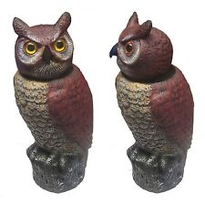 OWL DECOY BIRD SCARER DETERRENT WIND ACTIVATED OUTDOOR GARDEN SPINNING HEAD 360°