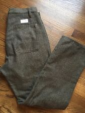 Vintage ONE TRUE SAXON High Waisted Button Fly Tweed Pants  Size 34 /32