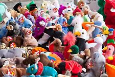 HUGE LOT 150 TY ORIGINAL BEANIE BABIES MIXED LOT BEARS, DOGS, & MORE - USED