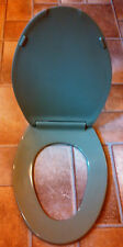Beneke High Quality Solid Plastic Elongated Toilet Seat 520 - Crane AVOCADO