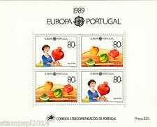 PORTUGAL S/S EUROPA CEPT (1989)   MNH