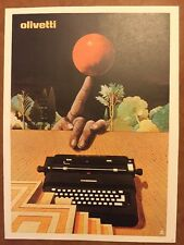 Milton Glaser , Olivetti 'Lexicon' Typewriter Pop Art Advert Mini Poster 1977 47