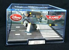 Disney Store Pixar Planes NAVY DUSTY With Plastic Collectors Case - VF-17 New