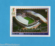 KOREA/JAPAN 2002-PANINI-Figurina n.13- SUWON WORLD CUP STADIUM -NEW BLUE BACK