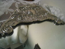 "Vintage Mirrored Footed Vanity Dresser Art Tray Godinger Silver Plated 21"" Long"