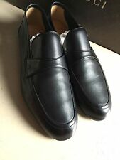 New $490 Gucci Men's Leather Shoes Black 10 ( 11 US ) Italy