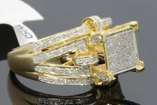 .72 CT 100% GENUINE DIAMONDS WOMENS YELLOW GOLD FINISH ENGAGEMENT WEDDING RING