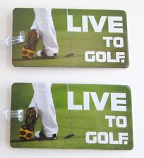 Lewis N Clark Set of 2 Luggage Tags Live to Golf Bag Travel ID