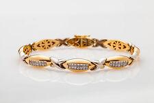 $10,000 2ct VS Princess Cut Diamond 14k Gold Tennis Bracelet GIA Appraisal 27g