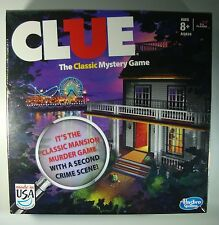 NEW Clue Game by Hasbro MADE IN USA Classic Mansion Boardwalk Murder Mystery