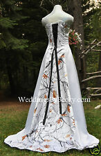NEW Camo Truetimber Wedding Gown, REALTREE or Mossy Oak SATIN- MADE ONLY IN USA!