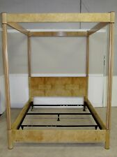 HENREDON SCENE TWO POSTER CANOPY BED QUEEN SIZE 4 POST BED, OPTIONAL MIRROR TOP