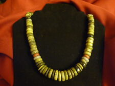 VINTAGE Handmade Artisian Sterling Silver Turquoise Necklace NATIVE ART