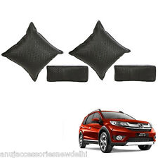 Car Seat Neck Rest & Cushion Pillow Kit Combo (Black) Honda Brv