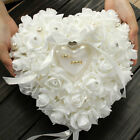 Romantic Pearl Rose Wedding Favors Heart Shaped Gift Ring Box Pillow Cushion