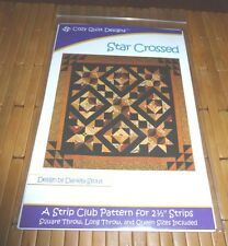 STAR CROSSED QUILT PATTERN FOR SQUARE THROW, LONG THROW OR QUEEN