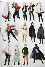 Naruto PVC A4 Sticker Sheet Laptop Luggage Guitar Case Stickers Japanese Anime