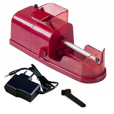 Red New EU Electric Cigarette Rolling Machine Automatic Injector DIY Maker TG