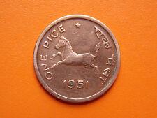 One Pice 1951 Government of India Calcutta Mint Original Coin