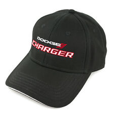 Dodge Charger Black Structured Cotton Sandwich Brim Hat
