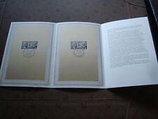 FRANCE/ALLEMAGNE - document 1er jour 14/1/1988 coop franco/allemande)