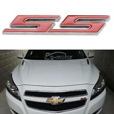 CHEVY CAMARO IMPALA COBALT SILVERADO SS RED ALUMINUM EMBLEMS BADGE DECAL LICENSE