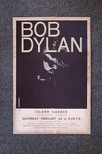 Bob Dylan Tour Poster 1966 Long Island Garden NY