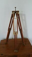 Antique Vintage Wooden Tripod Stand Metal & Wood Stand Transit Camera Military