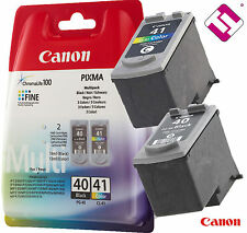 PACK CARTUCHO NEGRO PG40 COLOR CL41 ORIGINAL PARA IMPRESORA CANON PIXMA IP 1900