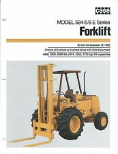 Fork Lift Truck Brochure - Case - 584 585 586 E series (LT276)