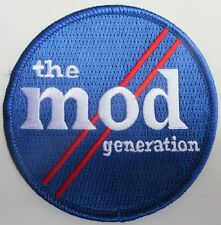 Mod Generation Circle Blue, White And Red Embroidered Patch