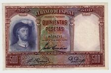 Spagna Spain 500 pesetas  1931  Spl  XF    Pick 84e  lotto 133