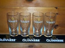 GUINNESS STOUT 4 GALAXY STYLE 20oz GRAVITY BEER PINT GLASSES, BAR MAT RUNNER NEW