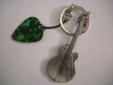 335 type guitar/ pleck and keyring.