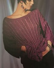 "Knitting Pattern For a Smart Evening  Top / Jumper  - Sizes 34-38"" Chest"