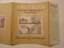 Sneezles and Other Selections from A A Milne, E H Shepard, Dust Jacket Only