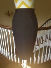 Vintage Wool and Cashmere Charcoal Gray Pencil Skirt from I. Magnin size S