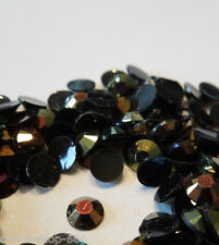 Glitzersteine  Rhinestones  4mm   Schwarzgold   - NO hot fix