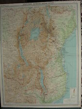 1920 LARGE MAP ~ CENTRAL AFRICA EASTERN SECTION KENYA COLONY UGANDA TANGANYIKA